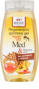 Bione Cosmetics Honey + Q10 regeneráló tusfürdő gél
