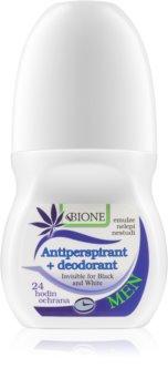 Bione Cosmetics Cannabis antitraspirante roll-on per uomo