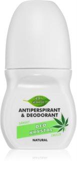 Bione Cosmetics Cannabis antyperspirant roll-on o zapachu kwiatów