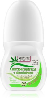 Bione Cosmetics Cannabis αντιιδρωτικό ρολλ-ον με άρωμα λουλουδιών