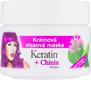 Bione Cosmetics Keratin + Chinin Crème-Masker  voor het Haar