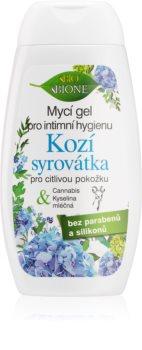 Bione Cosmetics Kozí Syrovátka дамски душ гел за интимна хигиена за чувствителна кожа