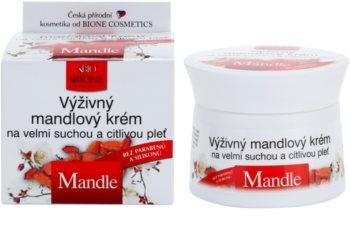 Bione Cosmetics Almonds Voedende Crème  voor Zeer Droge en Gevoelige Huid