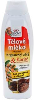 Bione Cosmetics Argan Oil + Karité tápláló testápoló tej