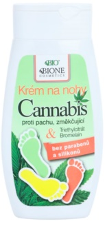 Bione Cosmetics Cannabis омекотяващ крем за крака