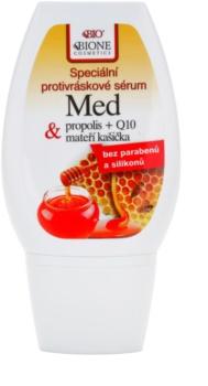 Bione Cosmetics Honey + Q10 ser special impotriva ridurilor