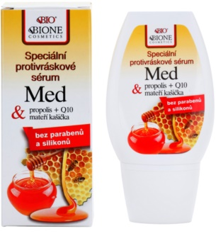 Bione Cosmetics Honey + Q10 spezielles Anti-Falten Serum