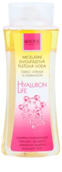 Bione Cosmetics Hyaluron Life kétfázisú micelláris víz hidratáló hatással