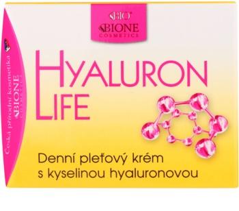 Bione Cosmetics Hyaluron Life Tagescreme für das Gesicht mit Hyaluronsäure
