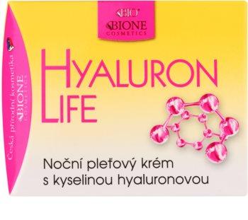 Bione Cosmetics Hyaluron Life éjszakai arckrém hialuronsavval