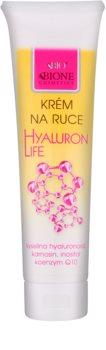 Bione Cosmetics Hyaluron Life krema za ruke s regenerirajućim učinkom