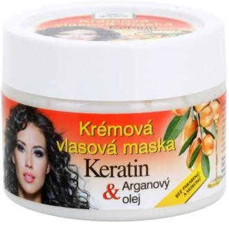 Bione Cosmetics Keratin Argan regenererende sheet mask voor het Haar