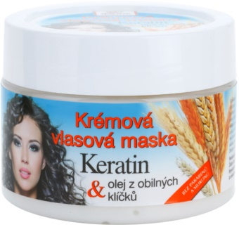 Bione Cosmetics Keratin Grain Crème-Masker  voor Alle Haartypen