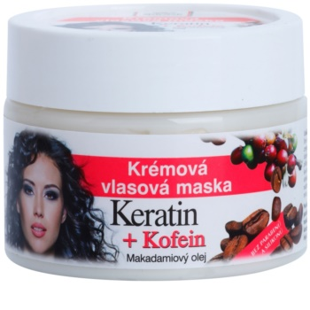 Bione Cosmetics Keratin Kofein mascarilla textura crema para cabello