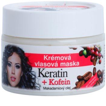 Bione Cosmetics Keratin Kofein maschera in crema per capelli