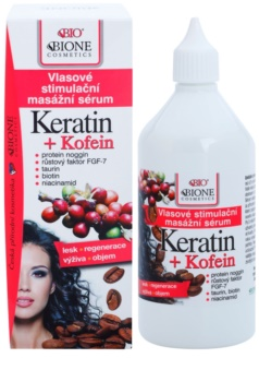Bione Cosmetics Keratin Kofein серум за разстеж на косата и укрепване от корените