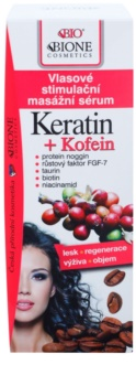 Bione Cosmetics Keratin Kofein szérum a haj növekedéséért és megerősítéséért a hajtövektől kezdve