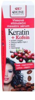 Bione Cosmetics Keratin Kofein сироватка для росту та зміцнення волосся від корінців до самих кінчиків