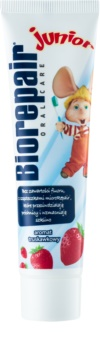 Biorepair Junior Pasta de dinti pentru copii. cu aroma de capsuni