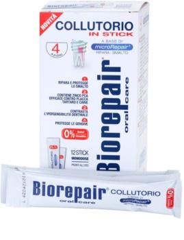 Biorepair Plus bain de bouche pour renforcer et renouveler l'émail dentaire format voyage