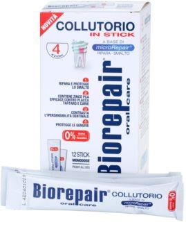 Biorepair Plus płyn do płukania jamy ustnej dla wzmocnienia i odnowy szkliwa opakowanie podróżne