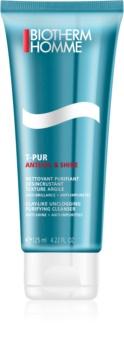 Biotherm Homme T-Pur Anti-oil & Shine tisztító gél zsíros és problémás bőrre