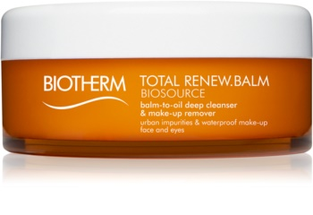 Biotherm Biosource Total Renew Balm emulsione struccante per viso e occhi