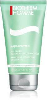 Biotherm Homme Aquapower osvježavajući gel za tuširanje za tijelo i kosu