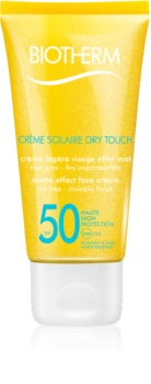 Biotherm Crème Solaire Dry Touch Matte Sunscreen On Your Face SPF 50