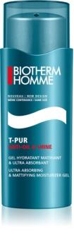 Biotherm Homme T-Pur Anti-oil & Shine mattierendes Gel mit feuchtigkeitsspendender Wirkung
