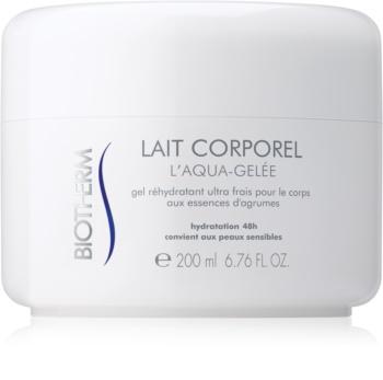 Biotherm Lait Corporel L'Aqua-Gelée crème hydratante rafraîchissante pour peaux sensibles