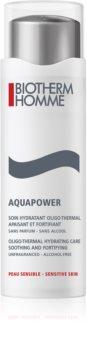 Biotherm Homme Aquapower hidratáló ápolás az érzékeny bőr megnyugtatásához és erősítéséhez