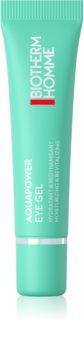 Biotherm Homme Aquapower Eye De-Puffer хидратиращ гел за очи против отоци