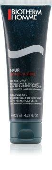 Biotherm Homme T-Pur Anti Oil & Shine очищуючий гель для обличчя