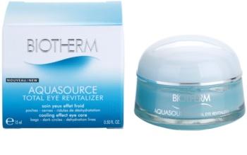 Biotherm Aquasource Total Eye Revitalizer Augenpflege gegen Schwellungen und Augenschatten mit kühlender Wirkung