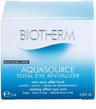 Biotherm Aquasource Total Eye Revitalizer očná starostlivosť proti opuchom a tmavým kruhom s chladivým účinkom