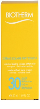 Biotherm Créme Solaire Dry Touch Matterende Zonnebandcrème voor het Gezicht SPF30