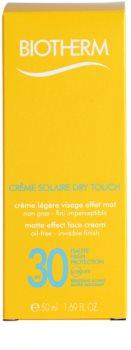 Biotherm Crème Solaire Dry Touch zmatňujúci opaľovací krém na tvár SPF 30