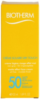 Biotherm Créme Solaire Dry Touch Matterende Zonnebandcrème voor het Gezicht SPF50