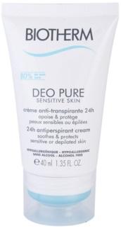 Biotherm Deo Pure Sensitive Skin anti-perspirant crema pentru piele sensibila dupa epilare