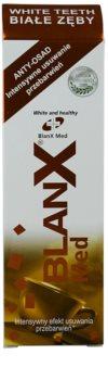 BlanX Med pasta de dientes blanqueadora con efecto antimanchas en el esmalte  con microgránulos