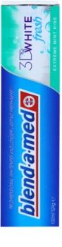 Blend-a-med 3D White Fresh Extreme Mint Kiss pasta de dientes blanqueadora para aliento fresco