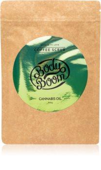 BodyBoom Cannabis Oil kávé test peeling