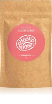 BodyBoom Strawberry скраб за тяло с кафе