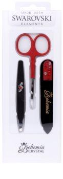 Bohemia Crystal Bohemia Swarovski Nail File,Tweezers and Nail Clippers Cosmetica Set  V.