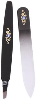Bohemia Crystal Bohemia Swarovski Nail File and Tweezers Cosmetic Set V.