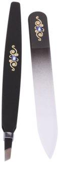 Bohemia Crystal Bohemia Swarovski Nail File and Tweezers kit di cosmetici V.