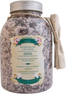 Bohemia Gifts & Cosmetics Bohemia Natur relaxačná kúpeľová soľ s ibištekom