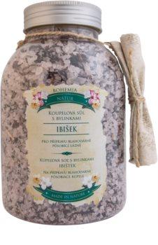 Bohemia Gifts & Cosmetics Bohemia Natur sare de baie relaxantă cu hibiscus