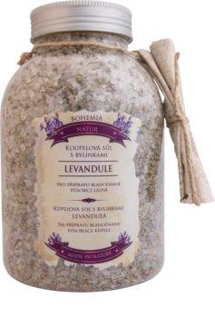 Bohemia Gifts & Cosmetics Bohemia Natur pomirjevalna sol za kopel z zelišči s sivko